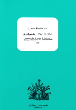 BEETHOVEN - Andante Cantabile - 2 Oboe-2 Clarinets-Horn-2 Bassoons-Contrabassoon - Partition - di-arezzo.co.uk