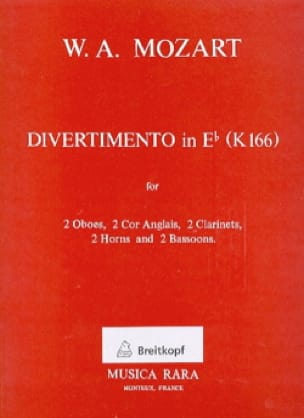 MOZART - Divertimento In Eb Eb M., Kv 166 - Dixtuor In Winds - Partition - di-arezzo.co.uk
