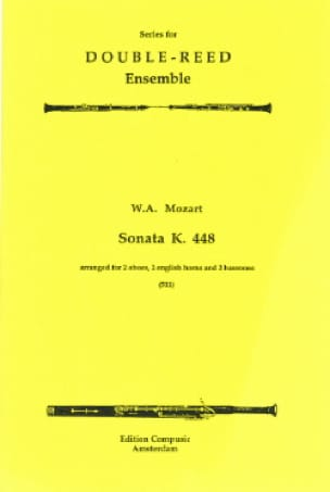 MOZART - Sonata KV 448 - 2 Oboes 2 english horns 2 bassoons - Score parts - Partition - di-arezzo.co.uk