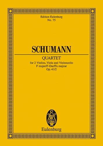SCHUMANN - Streichquartett F-Dur Op. 41/2 - Driver - Partition - di-arezzo.co.uk