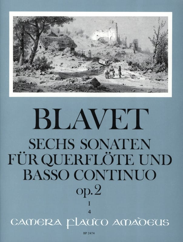 Michel Blavet - 6 Sonaten op. 2 Bd. 1 - Flöte und Bc - Partition - di-arezzo.co.uk
