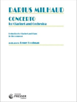 Darius Milhaud - Concerto For Clarinet And Orchestra - Partition - di-arezzo.co.uk
