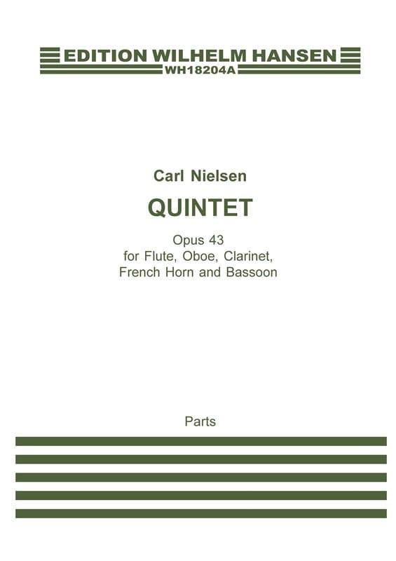 Quintette opus 43 - Parties - Carl Nielsen - laflutedepan.com