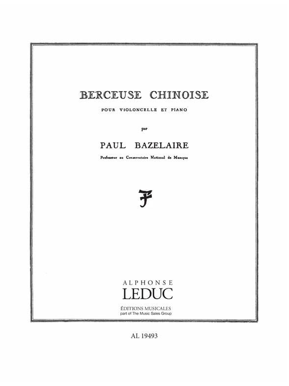Paul Bazelaire - Chinese lullaby op. 115 - Partition - di-arezzo.co.uk