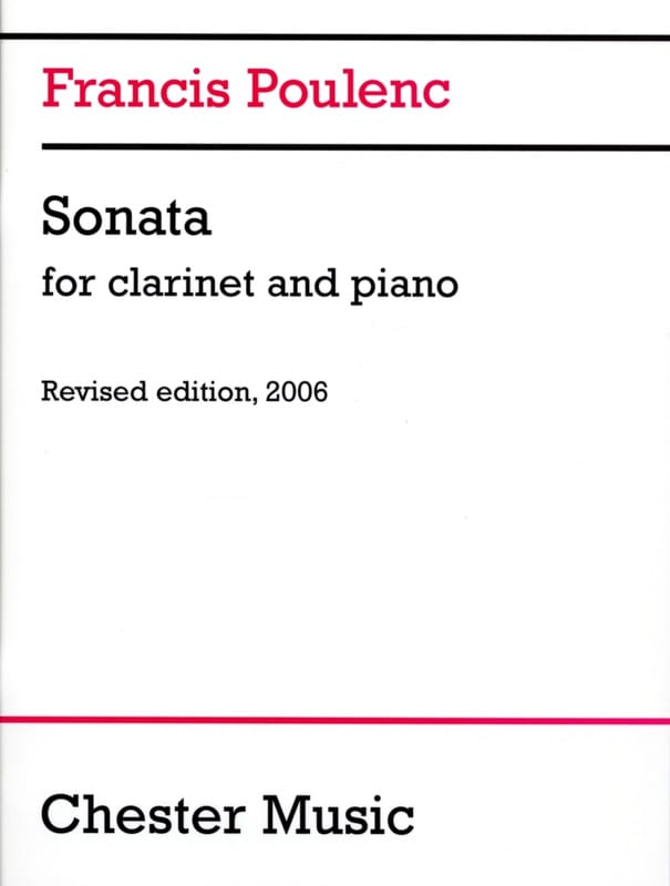 Francis Poulenc - Sonata for clarinet and piano - Partition - di-arezzo.co.uk