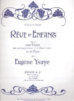 Eugène Ysaÿe - Child's dream op. 14 - Partition - di-arezzo.co.uk