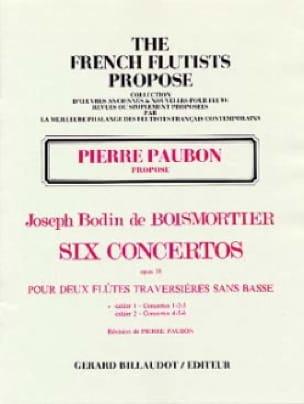 BOISMORTIER - 6 Concertos Op. 38 Volume 1 - Partition - di-arezzo.com
