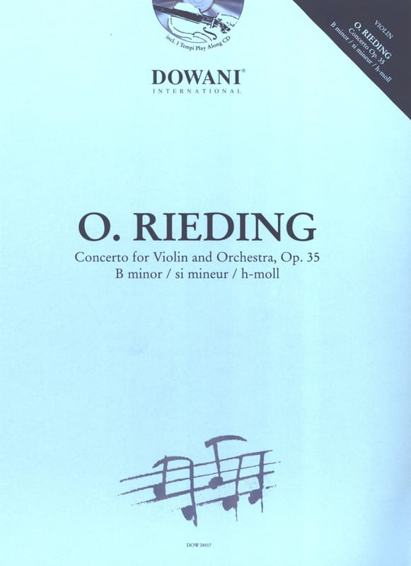 Oskar Rieding - Violin Concerto Op. 35 in B minor - Partition - di-arezzo.co.uk