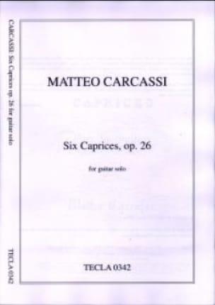 Matteo Carcassi - 6 Caprices op. 26 - Partition - di-arezzo.co.uk