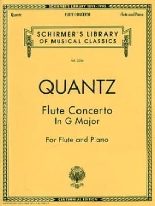 Johann Joachim Quantz - Concierto en sol mayor - Flauta piano - Partition - di-arezzo.es