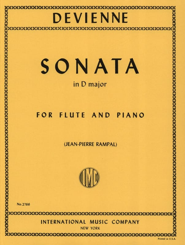 François Devienne - Sonata in D major - Flute piano - Partition - di-arezzo.co.uk