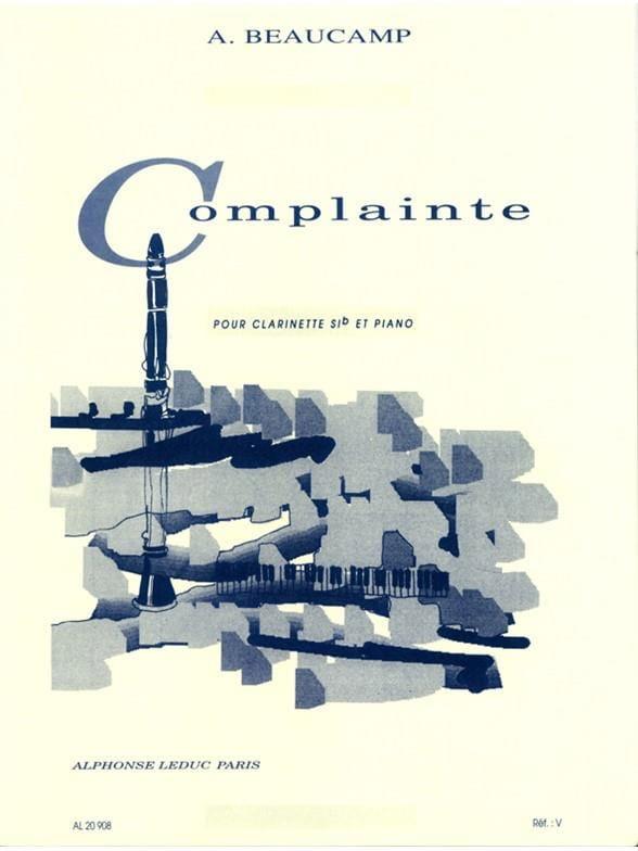 Complainte - Albert Beaucamp - Partition - laflutedepan.com