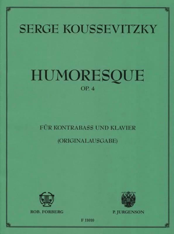 Humoresque op. 4 - Serge Koussevitzky - Partition - laflutedepan.com