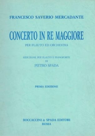 Saverio Mercadante - Concerto in Re Maggiore - Piano Flauto - Partition - di-arezzo.co.uk