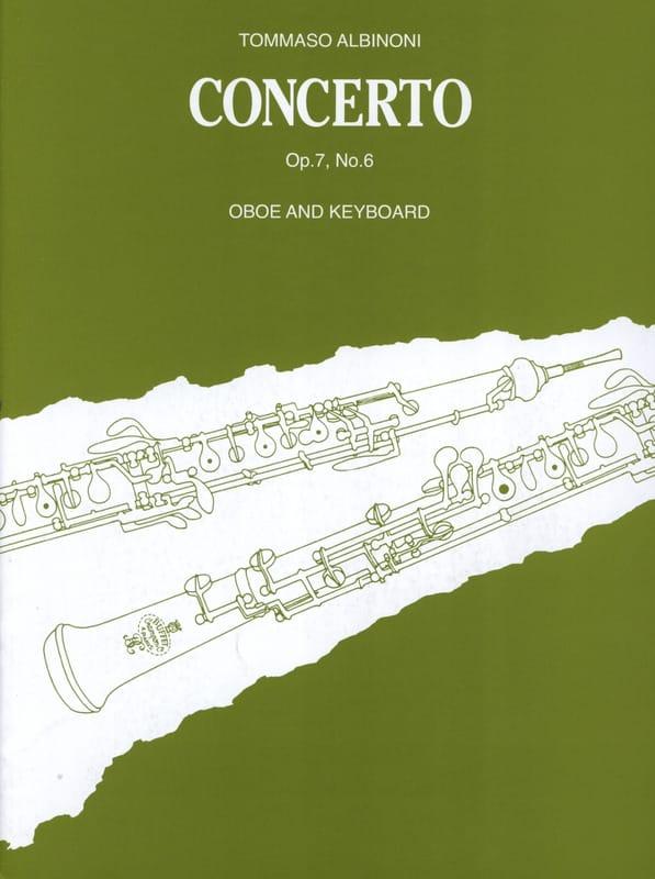 Tomaso Albinoni - Concerto per Oboe op. 7 n ° 6 - Partition - di-arezzo.com