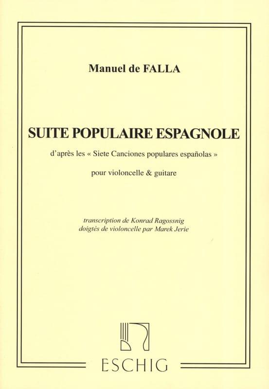 Suite Populaire Espagnole - Cello Guitare - laflutedepan.com
