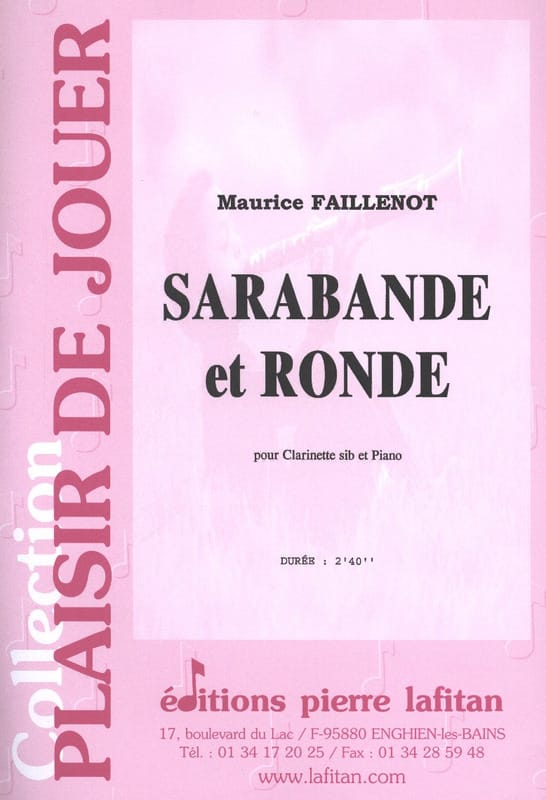 Maurice Faillenot - Sarabande and Round - Partition - di-arezzo.com