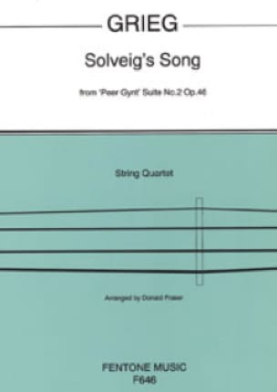 Solveig's Song - String Quartet - GRIEG - Partition - laflutedepan.com