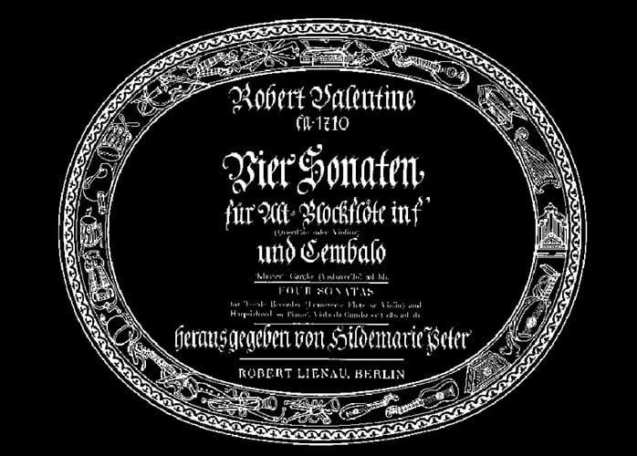 Robert Valentine - 4 Sonaten - Altblockflöte u. Cembalo - Partition - di-arezzo.com