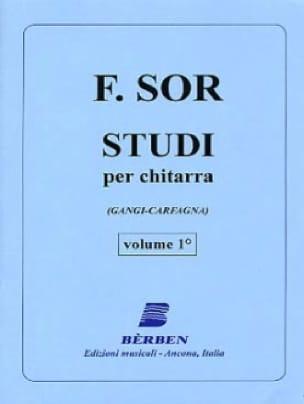 Studi per chitarra - Volume1 - SOR - Partition - laflutedepan.com