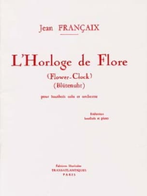 Jean Françaix - The Horloge de Flore - Oboe and piano - Partition - di-arezzo.com