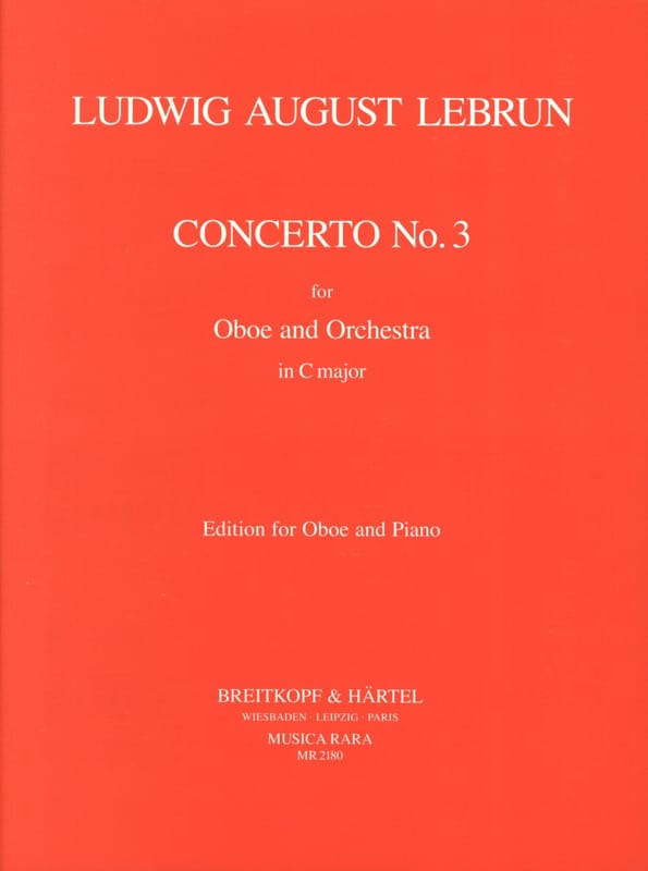 Ludwig August Lebrun - Concerto En C N° 3 - Partition - di-arezzo.fr