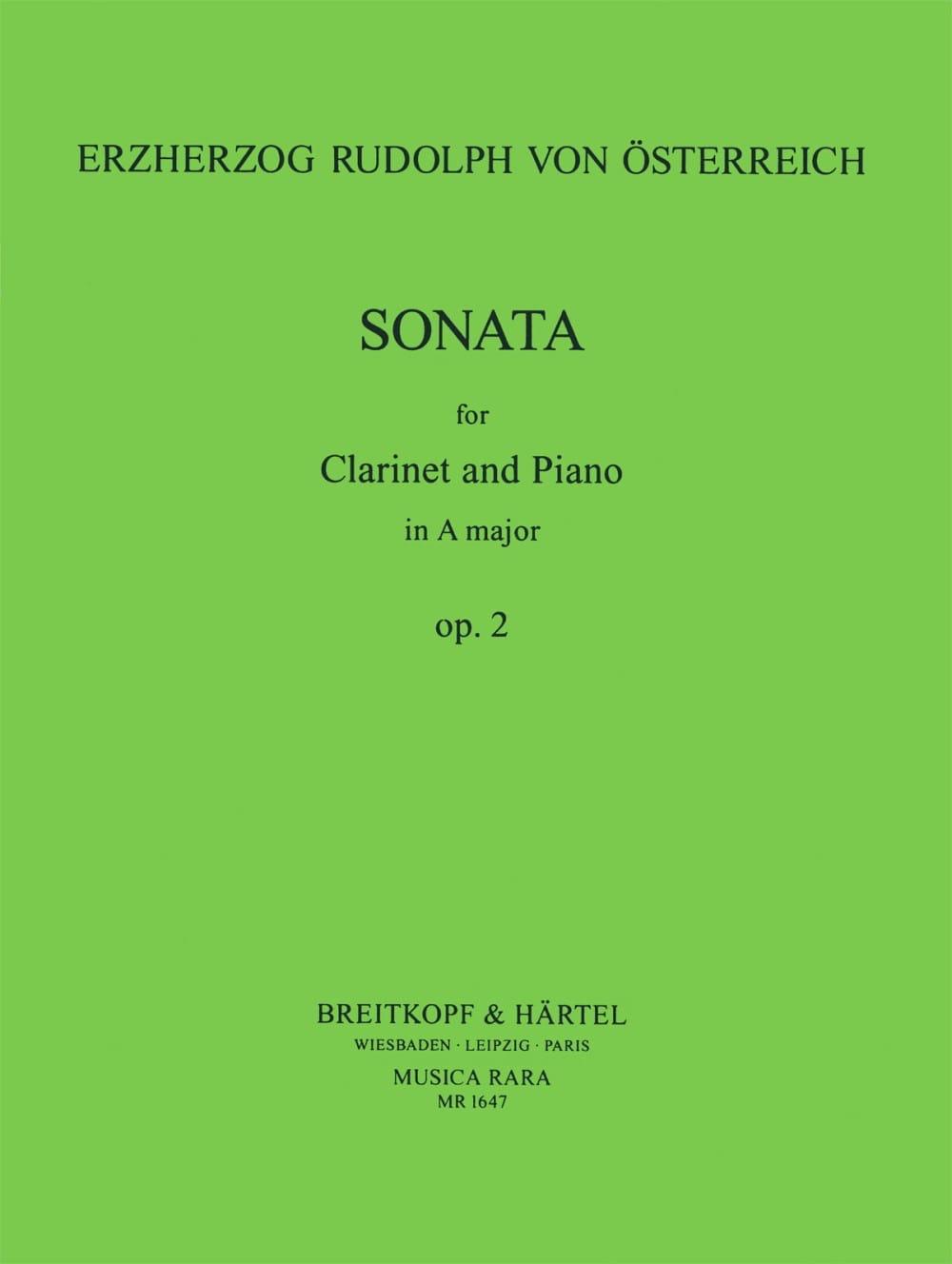 Sonata, opus 2 - Erzherzog von Osterreich Rudolph - laflutedepan.com