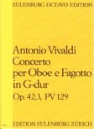 Concerto per Oboe e Fagotto, op. 42 n° 3, PV 129 - Partitur - laflutedepan.com