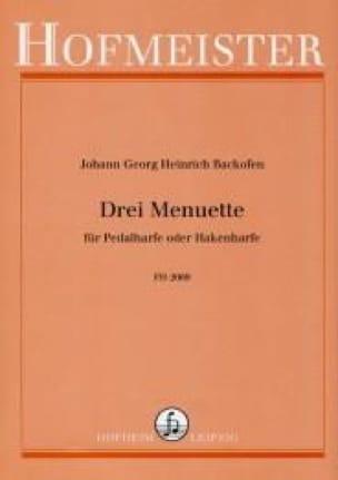 3 Menuets - Johann Georg Heinrich Backofen - laflutedepan.com