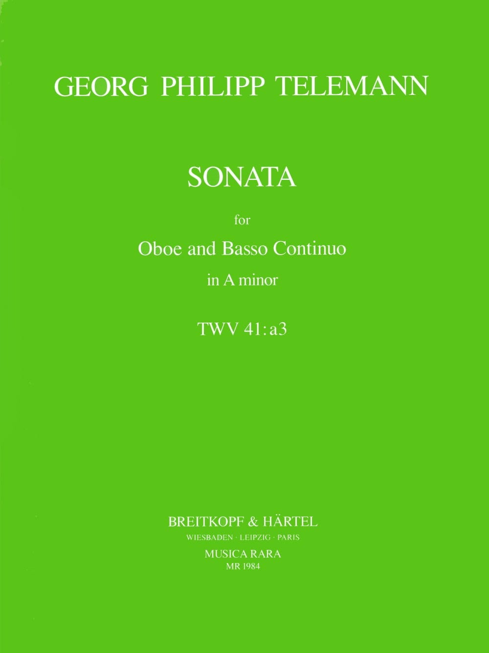 TELEMANN - Sonata In The Minor - Partition - di-arezzo.com