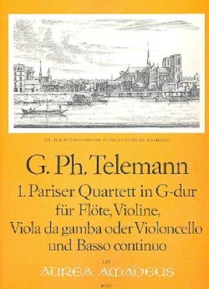 Pariser Quartett Nr. 1 G-Dur -Flöte Violine Viola da gamba BC - laflutedepan.com