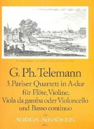 Pariser Quartett Nr. 3 A-Dur -Flöte Violine Viola da gamba BC - laflutedepan.com