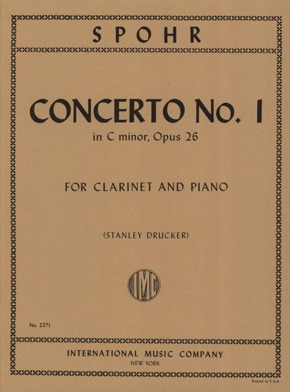 Louis Spohr - Clarinet Concerto no. 1 c minor op. 26 - Partition - di-arezzo.co.uk