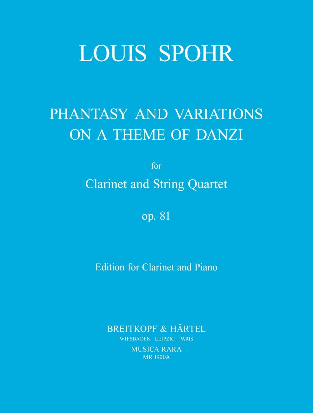 Louis Spohr - Fantasy and Variations op. 81 - Partition - di-arezzo.co.uk