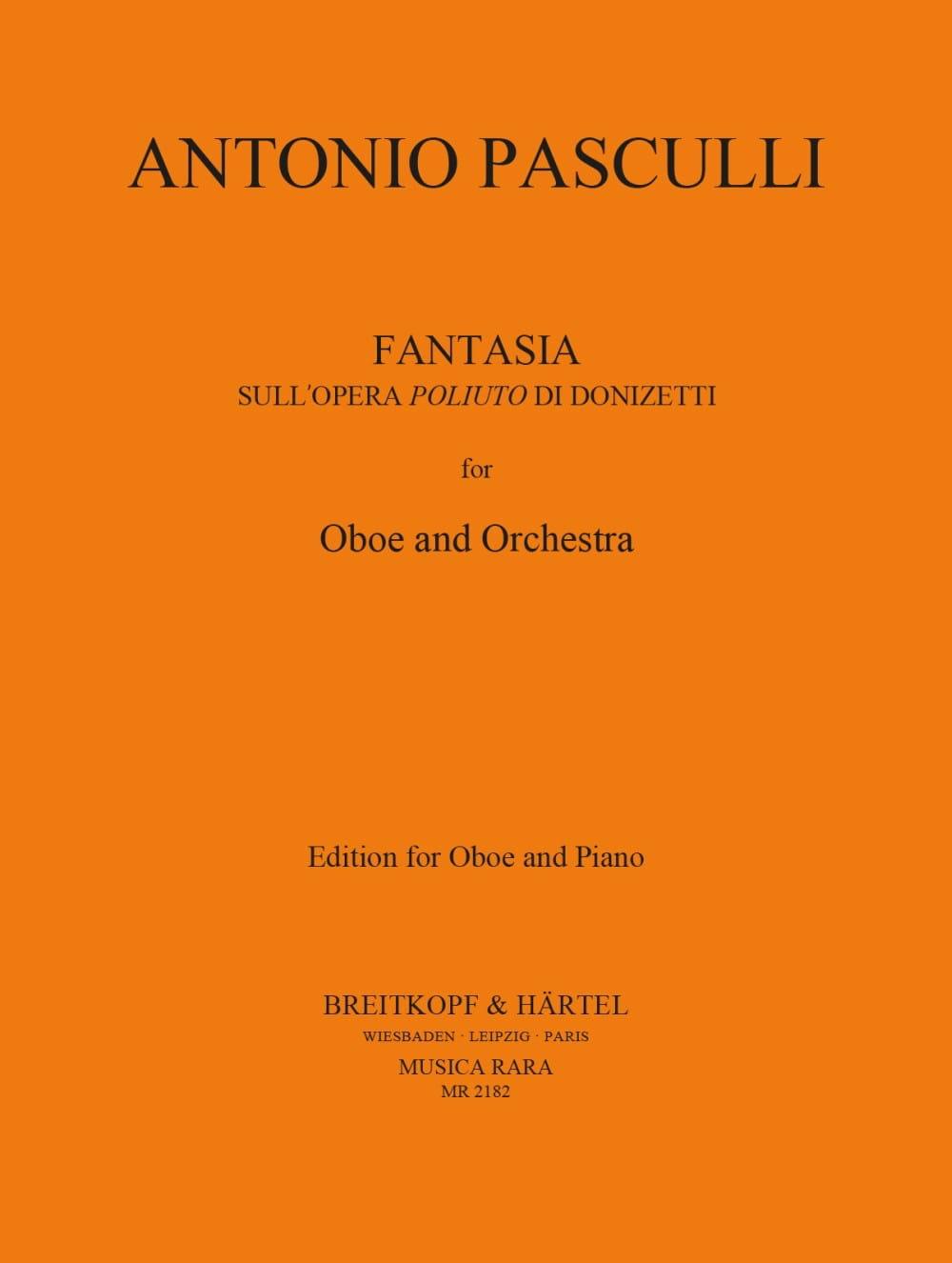 Antonino Pasculli - Fantasia sull'opera Poliuto di Donizetti - Partition - di-arezzo.es
