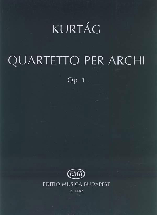 György Kurtag - Quartetto per archi op. 1 - Parte - Partition - di-arezzo.co.uk