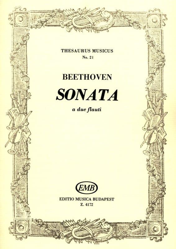 Sonata - 2 flauti - BEETHOVEN - Partition - laflutedepan.com