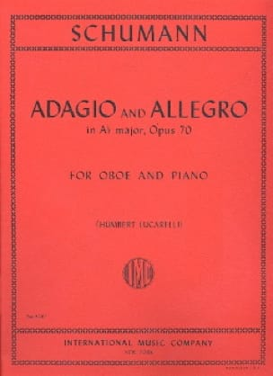 SCHUMANN - Adagio and Allegro op. 70 - Oboe piano - Partition - di-arezzo.fr