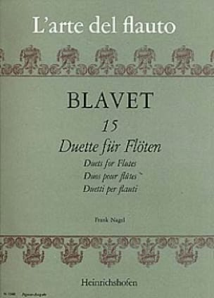 15 Duette für Flöten - Michel Blavet - Partition - laflutedepan.com