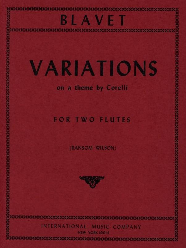 Michel Blavet - Variations - 2 Flûtes - Partition - di-arezzo.fr