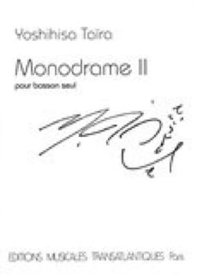 Monodrame 2 - Yoshihisa Taïra - Partition - Basson - laflutedepan.com