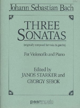 BACH - 3 Sonatas BWV 1027-1029 - Partition - di-arezzo.com