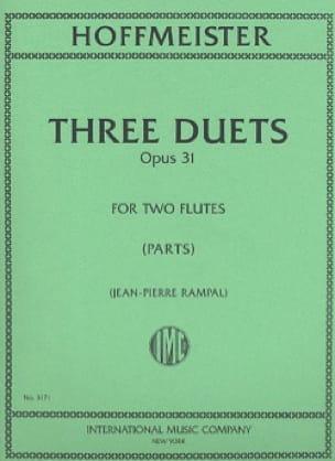 3 Duets op. 31 - 2 Flutes - HOFFMEISTER - Partition - laflutedepan.com