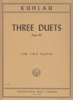 3 Duets op. 80 - 2 Flutes - Friedrich Kuhlau - laflutedepan.com