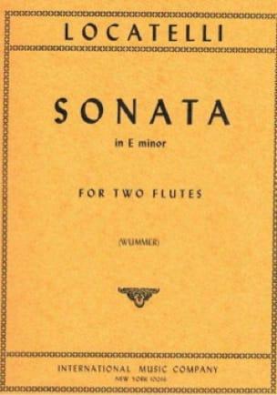 Sonata in E minor - LOCATELLI - Partition - laflutedepan.com