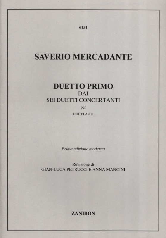 Saverio Mercadante - Duetto Primo - 2 Flauti - Partition - di-arezzo.fr