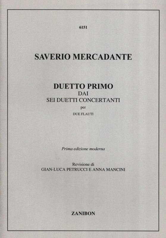 Duetto Primo - 2 Flauti - Saverio Mercadante - laflutedepan.com