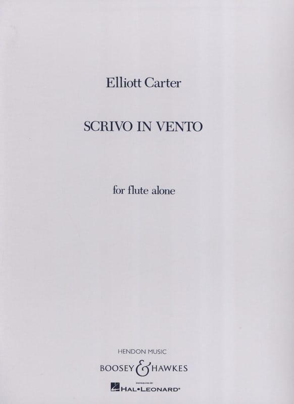Scrivo in vento - Elliott Carter - Partition - laflutedepan.com