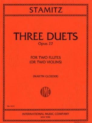 3 Duets op. 27 - 2 Flutes or violins - STAMITZ - laflutedepan.com