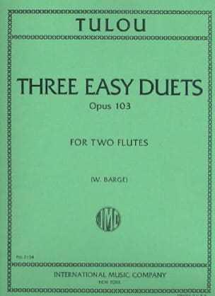 3 Easy duets op. 103 - 2 Flutes - Jean-Louis Tulou - laflutedepan.com